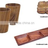 Cup, Condiment 3 sides, Condiment 4 sides, 100% bamboo eco-friendly in Vietnam