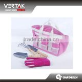 ERP management help us on schedule TUV certification 5 pcs woman garden tool set with carry bag