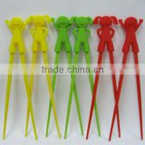 eco-friendly silicone boy and girl head charm chopsticks wholesales, chopstick for kids