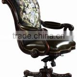 Luxury Royal Upholstery Swivel Chair for Office, Classic Design Office Armchair with Fabric and Leather BF11-09192d