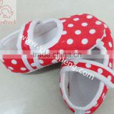 christmas shoes white polka dot with red baby shoes