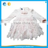 Made in China Christmas Polyester Beaded Pink Kids Wear Girls' Dresses