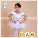 Wholesale In stock many colors training dresses kids printed tutu dress with ballet shoes pattern for ballet training