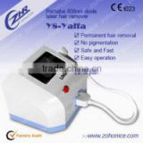 Y8A portable diode laser hair removal/808nm hair removal machine