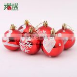 6/bag new 6cm mixed plating painted balls Christmas balls Christmas tree decoration ball ornaments light 80g