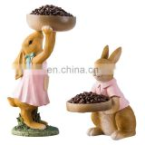 Different Style Lifelike Rabbit Animal Figure For Table Or Desk Decoration