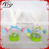 Easter supplies rabbit shaped plastic candy jar
