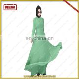 Abaya Arabic Muslim Long Dress New Model Abaya In Dubai with Fashion Pleat in front and back