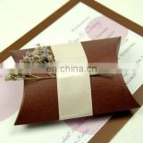 Chocolate Brown Pillow Favor Box