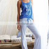 Vest and lounge pants cotton pajama set for women