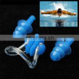 Soft Silicone Swimming Nose Clip and Ear Plug Set Earplug, Random Color Delivery