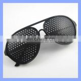 Black Pinhole Glasses Eyesight Improvement Vision Care Exercise Eyewear Improver