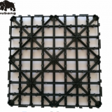 DIY interlocking WPC tiles plastic base