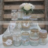 Wedding Table Decorated Glass Jars Vases For Centrepiece