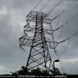 galvanized steel transmission tower