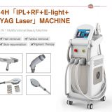 Skin Care Multifunction Beauty Machine Vertical E Light Ipl Qswitch laser RF face lifting Machine With 4 Handles