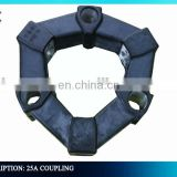 Mini Excavator SK03 UH25-7 R60 DH60 25A Rubber Coupling