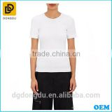 China Factory Wholesale OEM Design Lady White T shirt 2016