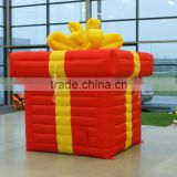 Red inflatable led balloon box for decoration