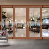 Sound Proof Thermal Break Double Glazing Aluminum Sliding Doors Break Bridge Three Tracks Slding Door with Screen