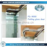 FD-9000H Sahara exterior separate panel glass folding door, folding door price, frameless glass folding door for office