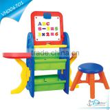 Kids Drawing Board Table with Desk and Numbers Letters 80pcs