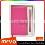 Cute leather notebook metal ball point pen lady gift set                                                                                                         Supplier's Choice