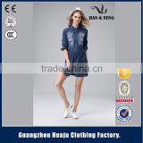 garment factory wholesale clothing denim dress girl summer 2016