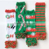 New baby christmas leg warmers red and green leg warmers infant socks leggings LW-25