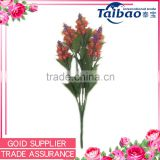 Alibaba trade assurance supplier indoor decoration red plastic artificial foliage
