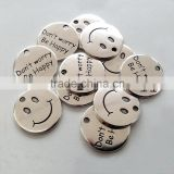 OEM Silver Smiling Word Charms Sisters Customized Letter Charms