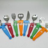 High quality pp handle children cutlery set , kids cutlery set                                                                         Quality Choice