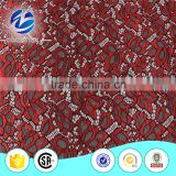 Guangzhou factory lace manufacturer supply TC heavy black cord lace fabric