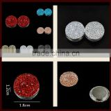 Hot selling 1 Pair Fashion Round Magnetic pin Hijab Muslim Pin/