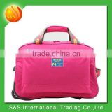 2015 bright waterproof leaves king trolley price of travel bag