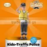 Carnival party kids traffic police costume child traffic police vest children uniform traffic police                                                                         Quality Choice