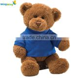 Alibaba factory wholesale mini teddy bear, Custom Plush Toy Panda with T-Shirt Embroidered Logo