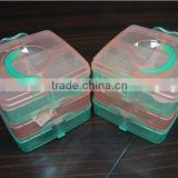 Plastic pretty compartment storage box with handle for outdoor storage box