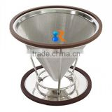 trade assurance reusable etched stainless steel dry hopper coffee filter and dripper                                                                                                         Supplier's Choice