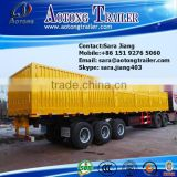 China manufacturer 3 axle 60tons curtain side wall semi trailer for grain transport for sale