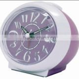 Plastic ball shaped table alarm clock