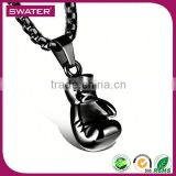 Wholesale Mexican Jewelry Mens Boxing Gloves Black Metal Chain Necklace