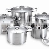 10pcs set 555 stainless steel clear polishing cooking pot/stock pot