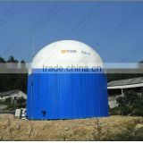 Domestic biogas container on biogas digester