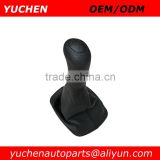 YUCHEN Car Shift Gear Knob With Black Leather Boot For Skoda Octavia I 1 U OEM 1U0711141+1U0711115 6QB