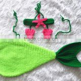 wholesale fashion costume crochet mermaid tail newborn photo props