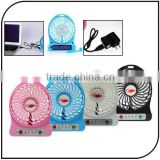 Portable Usb Fan with Strong Wind Rechargeable Electric Mini Usb Fan with Flashlight and Adjustable Speed