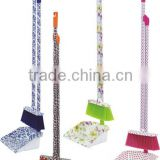 Long Handled Plastic Dustpan And Broom Set