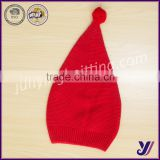 100% Acrylic Christmas Crocheted knitted baby beanie hats with pom pom china manufacturer