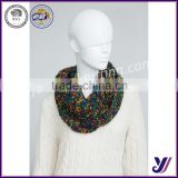 Chunky women fashion infinity knitted loop scarf (Accept the design draft)